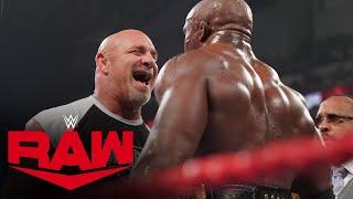 Goldberg emerges to confront Bobby Lashley: Raw, July 19, 2021
