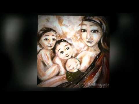 Breastfeeding Art Paintings of Mothers Breastfeeding Babies by Katie m. Berggren