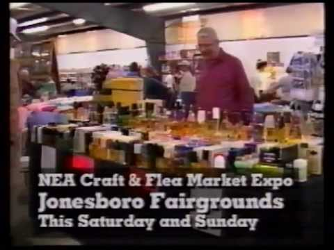 Northeast Arkansas Craft & Flea Market Expo TV commercial from late 1990s