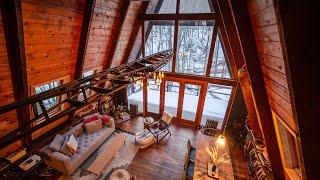 Nordfjellet A-frame Cabin Tour - Catskill Mountains, Ny