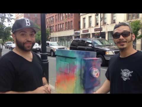 Watch artists transform downtown Springfield utility box into art (video)
