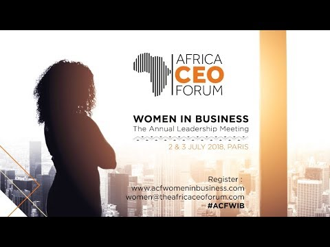 AFRICA CEO FORUM - Teaser Women in Business Annual Leadership Meeting