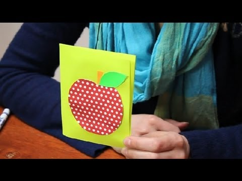 How To Make A Birthday Card For A Teacher Name Tags Cards Youtube