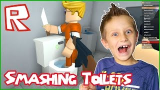 Smashing the Toilet with a Crude Knife / Roblox Prison Life