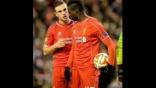 mario balotelli fight with jordan henderson for a penalty