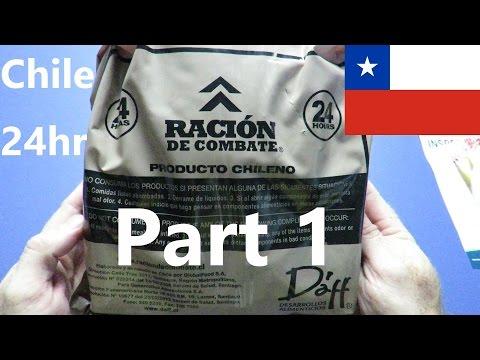 MRE Review (Part 1) - Chile 24hr 'Racion De Combate' (Unboxing, Contents & Prep)