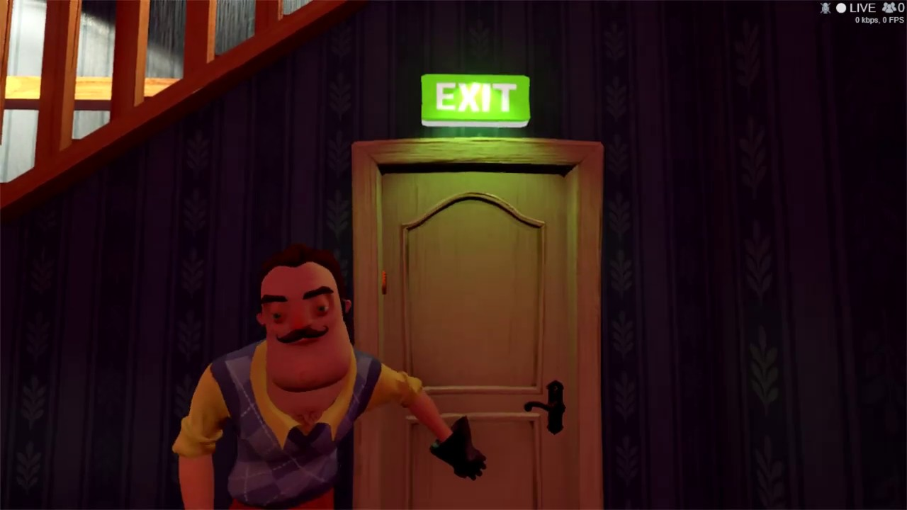 Hello Neighbor alpha 1 i beat the game (again) the right ...