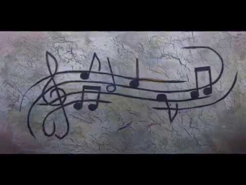 Painting: 'Musical Notes' time lapse