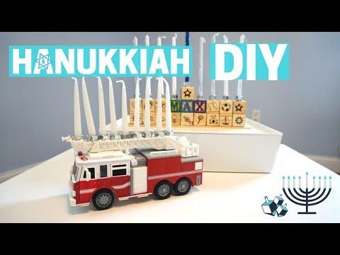DIY MENORAH HANUKKIAH - Hanukkah Crafts With Kids