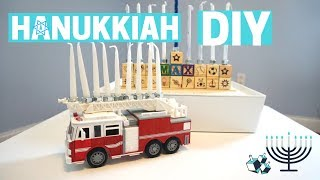 DIY MENORAH HANUKKIAH - Hanukkah Crafts with Kids