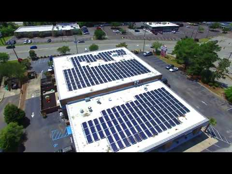 AMCS Drone Video of 101 kW Solar Energy System