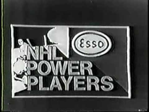 1970 Esso NHL Powerplayers Hockey Sticker Commercial