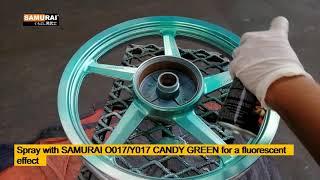 vuclip SAMURAI CANDY SPRAY ON MAG WHEEL (CHROME EFFECT)- SAMURAI PAINT PHILIPPINES