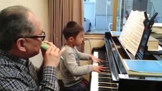 小さな勇気 ピアノとオカリナ(ピアノの先生と)
