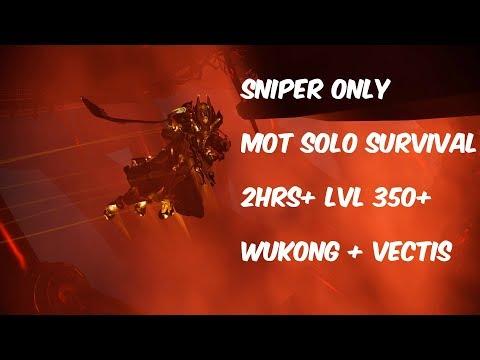 Warframe Wukong + Vectis Endgame Mot Solo Survival ( Sniper Only ) 2hrs+ thumbnail