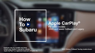 homepage tile video photo for How to Use Apple CarPlay® in Your Subaru