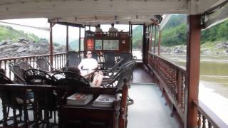 Cruising the Mekong river from Huay Xai to Luang Prabang Laos HD