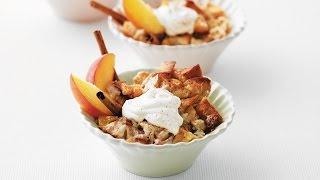 Yummy Peach Bread Pudding | 2009 Milk Calendar Recipe
