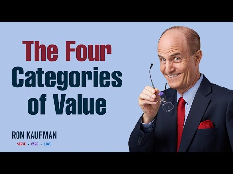 What VALUE will you create with your service today?