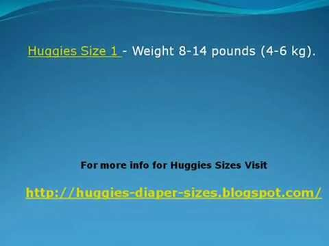 Huggies Size Chart By Weight