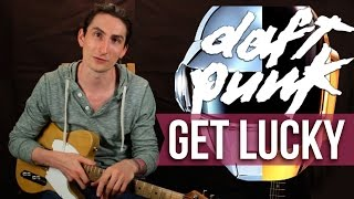 �������� ���� Get Lucky - Daft Punk - Как играть на гитаре - Уроки игры на гитаре Первый Лад ������