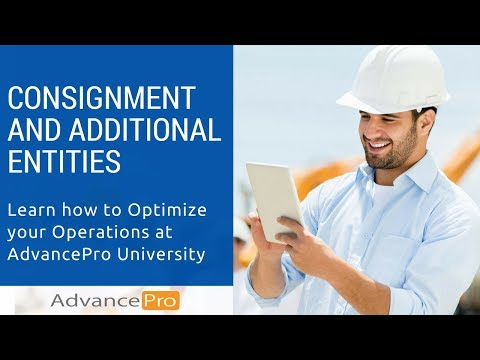 Consignment and Additional Entities