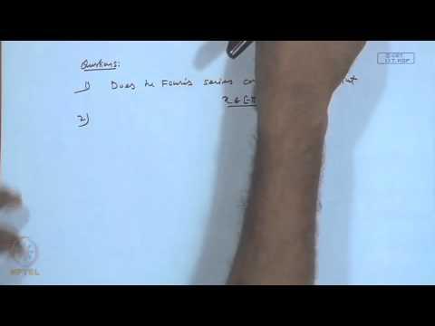 Mod-03 Lec-27 Fourier Series