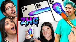 Teens React To ZHC Custom iPhone & Tesla Surprise Videos (MrBeast, Charli D'amelio, James Charles)