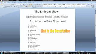 The Eminem Show FULL ALBUM DOWNLOAD!