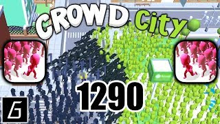 Crowd City Gameplay - New Record (1290) - (iOS - Android)