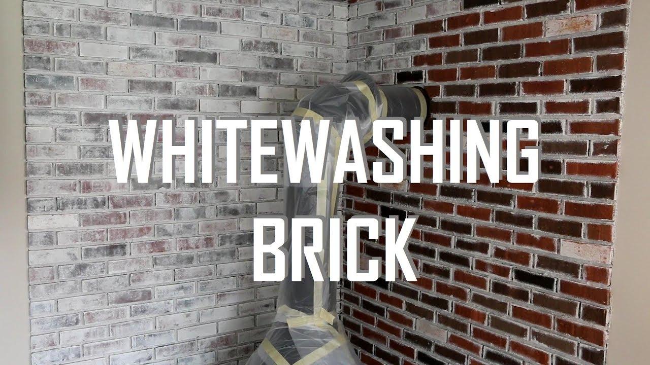 How To Whitewash Brick Youtube