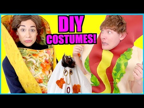Download Youtube: D.I.Y. EASY FREE HALLOWEEN COSTUMES!