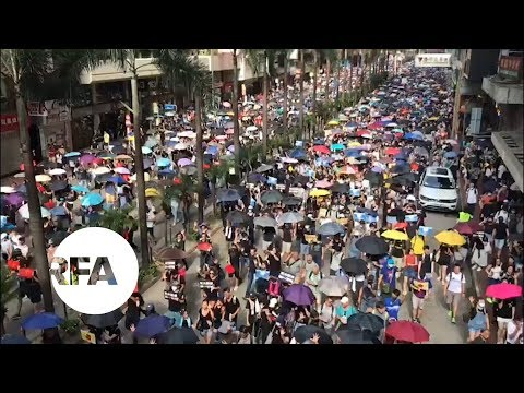 Protests at Hong Kong's Causeway Bay have led to more clashes. | Radio Free Asia (RFA)