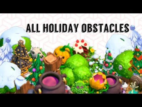 Clash of clans All Holiday Obstacles