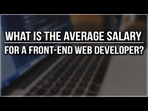 What is The Average Salary For a Front-End Web Developer?