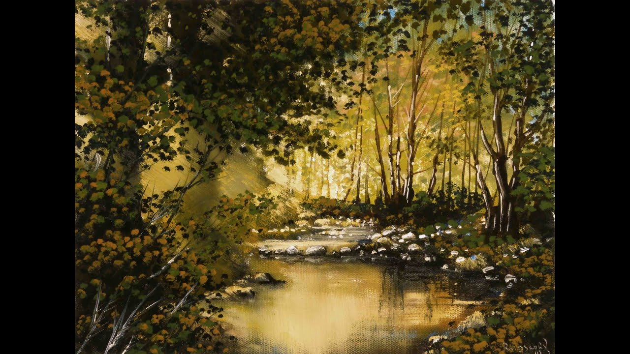 Fall Woodsy Pc Wallpaper Golden Pond Time Lapse Painting Youtube