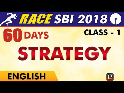 SBI Clerk Prelims 2018 | Strategy | English Live At 9 am | C