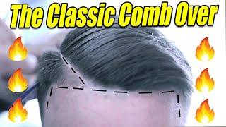 Comb Over w/ Razor Line Part | Scissor Work | Low Skin Fade | Comb Over | Barber Tutorial | Kv7