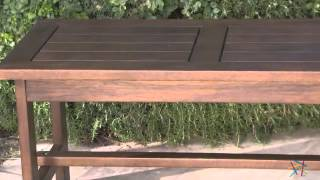 Cabos Firepit Straight Wood Bench - Product Review Video
