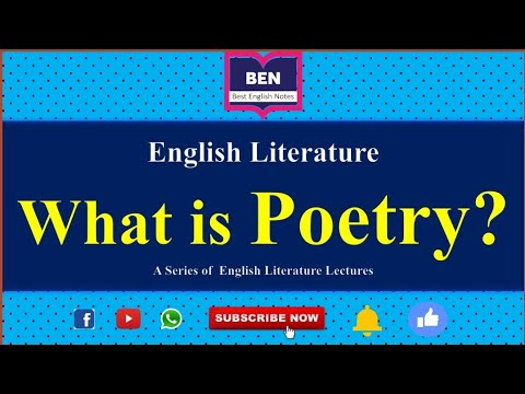 Poetry|What is Poetry?|Definition of Poetry|Best English Notes|Lectures on English Literature
