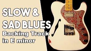 Slow & Sad Blues Backing Track in Em