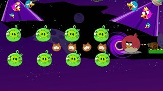 Angry Birds Collection Cannon 5 - SHOOT THE GIANT TERENCE THROUGH BLACKHOLE TO HIT ALL PIGS!