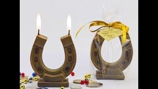 Идеи декора: новогодние свечи 2014, свеча лошадь