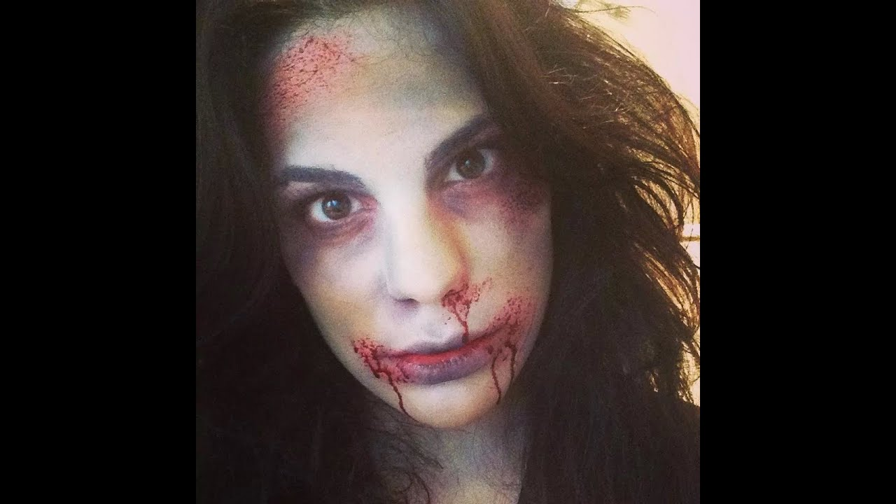 Maquillage halloween zombie simple facile et rapide youtube - Maquillage zombie femme facile ...