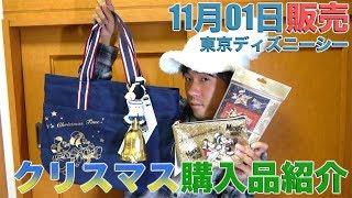 【爆買い!】予算2万5千円  東京ディズニーシーのクリスマスのグッズの購入品紹介