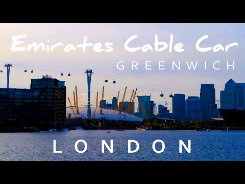 Emirates Cable Car London - Skyline Airline from Royal Docks to Greenwich Peninsula