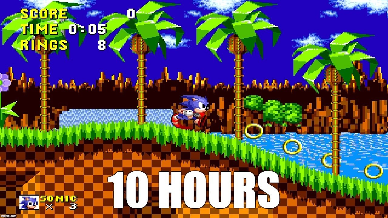Sonic Green Hill Zone Extended 10 Hours Youtube
