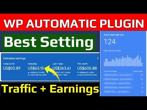 Wordpress Automatic Plugin Best Setting For Blogging Affiliate Marketing [Hindi 2021] AllHindiMeHelp