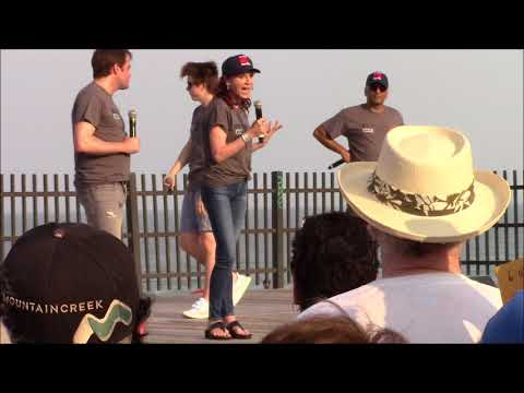 marilu henner on the seaside heights boardwalk