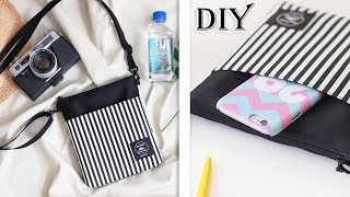 Download CUTE DIY CROSSBODY BAG FAST MAKING // Small Messenger Bag Stripe Design Purse Tutorial Mp3 and Videos